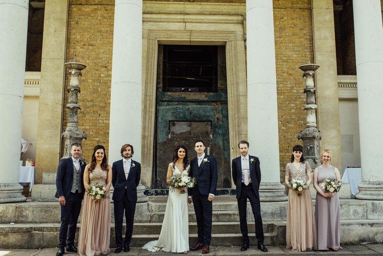 Asylum Chapel Wedding // Bermondsey Yard Cafe Wedding With Architect Bride In Andrea Hawkes & Groom In Paul Smith Images From Michelle Wood Photographer
