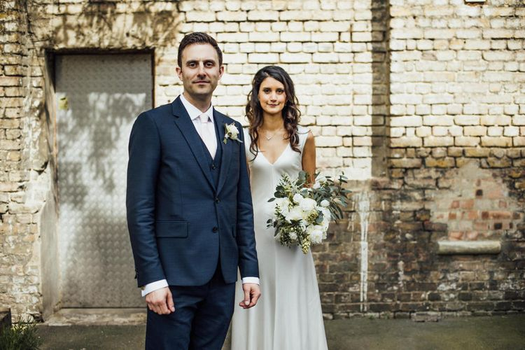 Bermondsey Yard Cafe Wedding With Architect Bride In Andrea Hawkes & Groom In Paul Smith Images From Michelle Wood Photographer