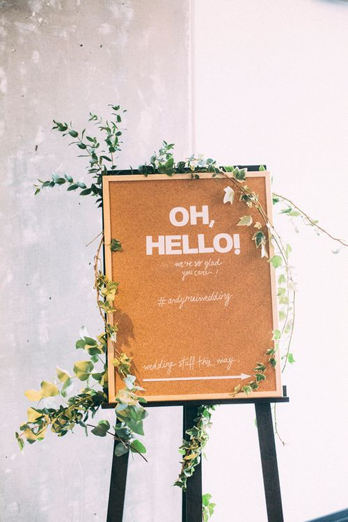 Welcome Sign For Wedding // A Thing Like That Photography