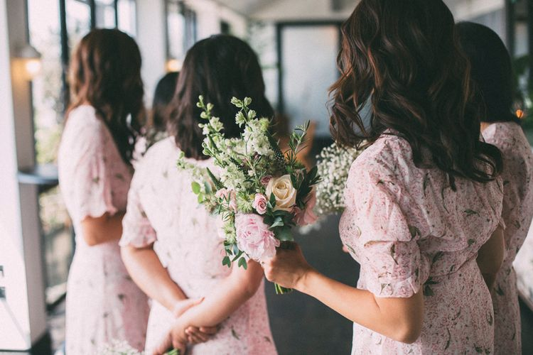 Bridesmaids In Floral Dresses // A Thing Like That Photography