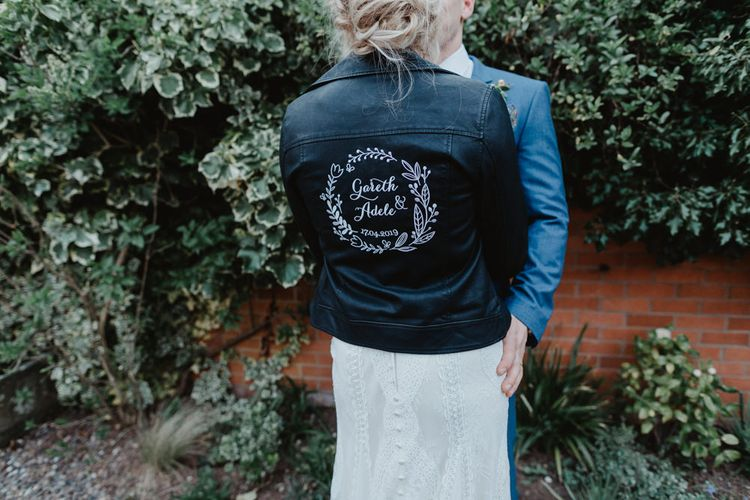 Customised Leather Bridal Jacket
