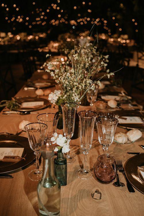 Reception Table Decor | Authentic Spanish Wedding at Masia Ribas, Barcelona | Sara Lobla Photography