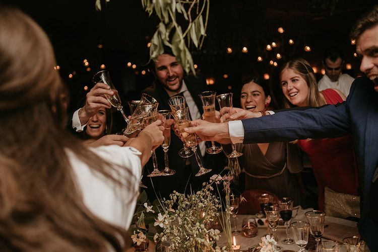 Outdoor Wedding Reception | Authentic Spanish Wedding at Masia Ribas, Barcelona | Sara Lobla Photography