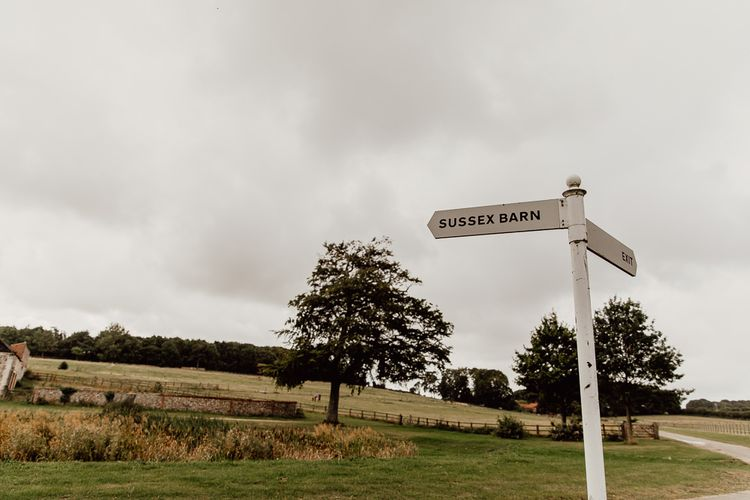 Signs for Norwich barn wedding venue