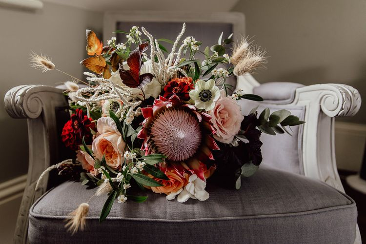 Bridal bouquet for Norfolk barn wedding
