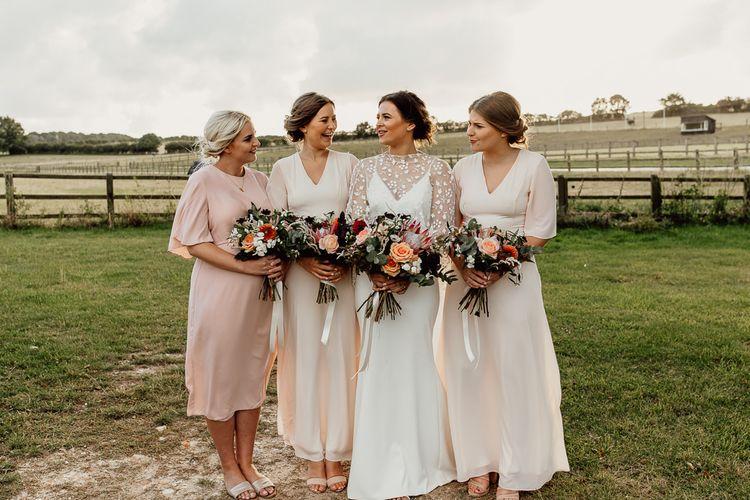 Blush bridesmaid dresses from ASOS