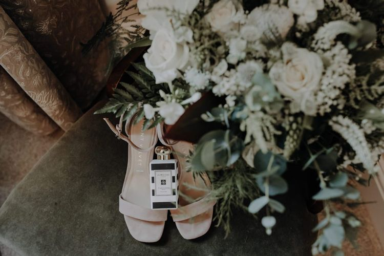 Bridal accessories and perfume for summer wedding at Hobbit Hill