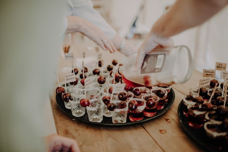 Shots at marquee reception with relaxed party styling