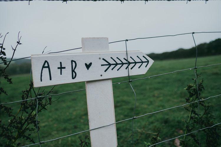 DIY Wedding Direction Sign Post