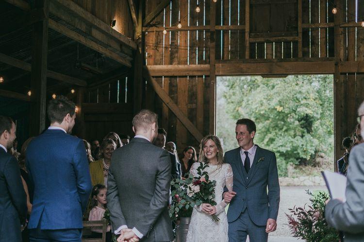 Barn Wedding Ceremony Bridal Entrance