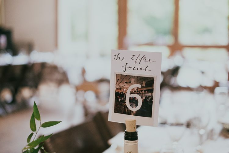 Polaroid Picture Table Number Wedding Decor