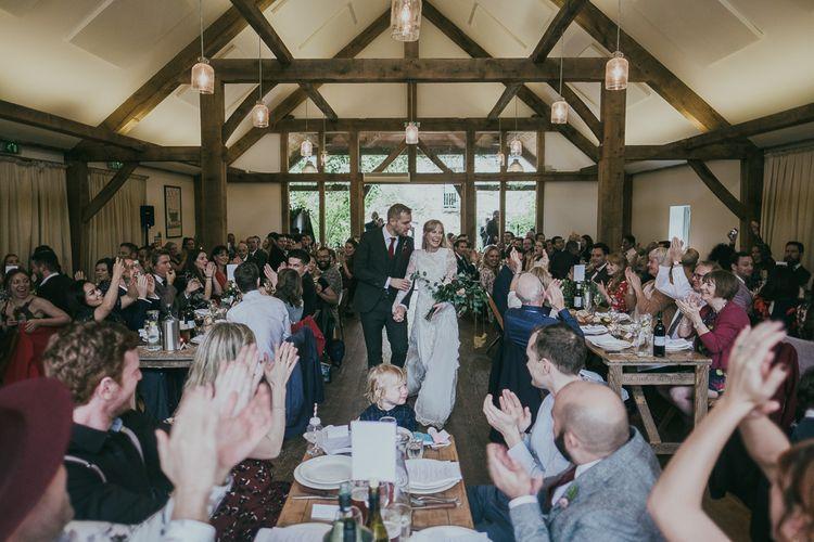 Bride and Groom Entrance into the Wedding Breakfast