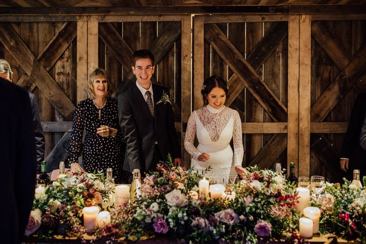 Bride and groom at top table