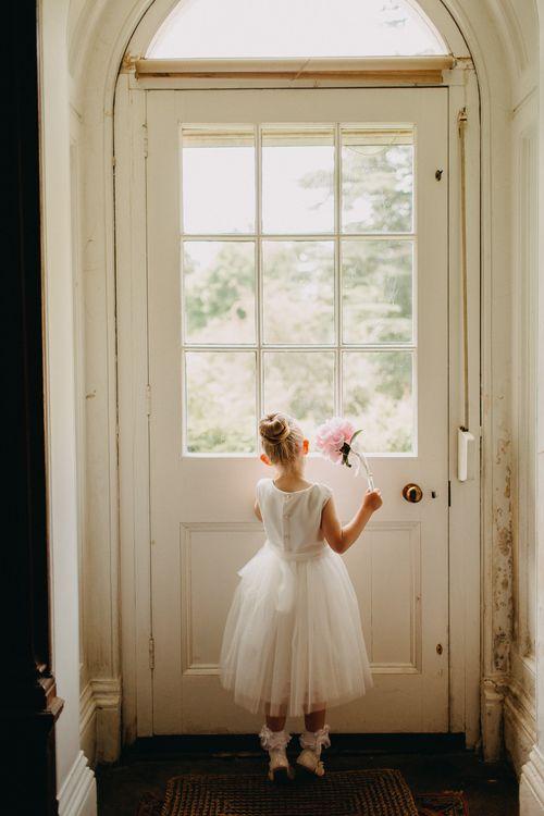 Flower Girl | DIY Rustic Tipi Wedding at Riverhill Gardens, Sevenoaks | Frances Sales Photography