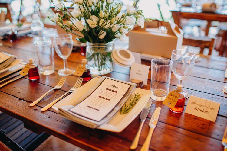 Place Setting Wedding Reception Decor | DIY Rustic Tipi Wedding at Riverhill Gardens, Sevenoaks | Frances Sales Photography