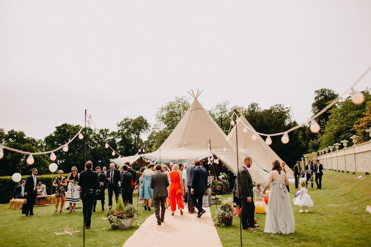 DIY Rustic Tipi Wedding at Riverhill Gardens, Sevenoaks | Frances Sales Photography