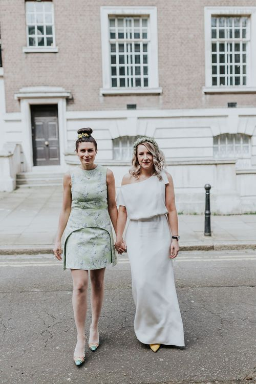 Bride in Agata Wojtkiewicz Atelier Bridal Gown | Stylish Intimate London Elopement at Islington Town Hall & The Elk in the Woods | Joasis Photography