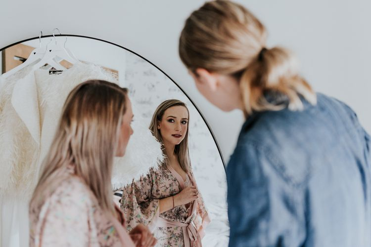Wedding Morning Bridal Preparation | Stylish Intimate London Elopement at Islington Town Hall & The Elk in the Woods | Joasis Photography