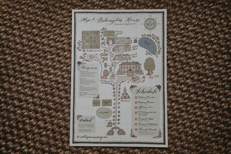 Wedding Weekend Schedule, Map and Information
