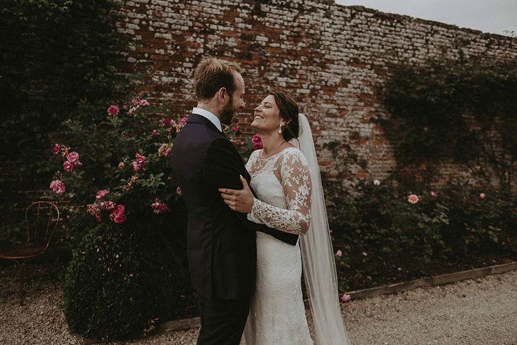 Bride and Groom Portrait at Babington House