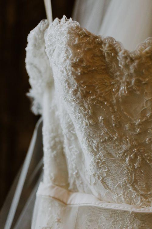 Annasul Y Violet Bridal Gown | Rustic Cripps Barn Winter Wedding | Alexandra Jane Photography