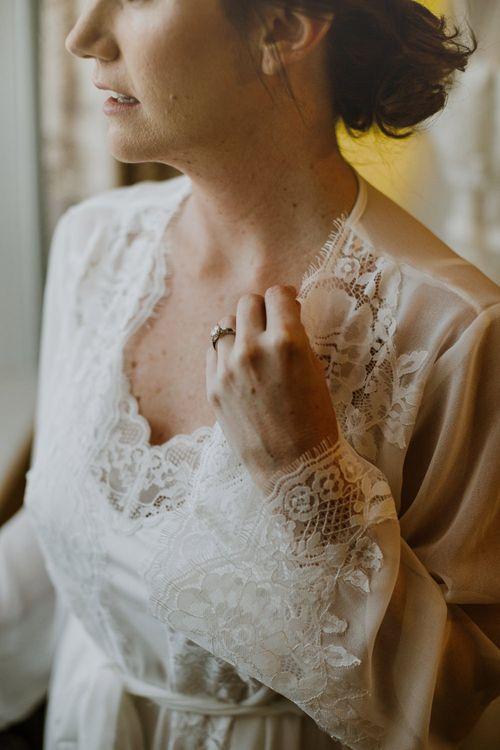 Wedding Morning Bridal Preparations | Rustic Cripps Barn Winter Wedding | Alexandra Jane Photography