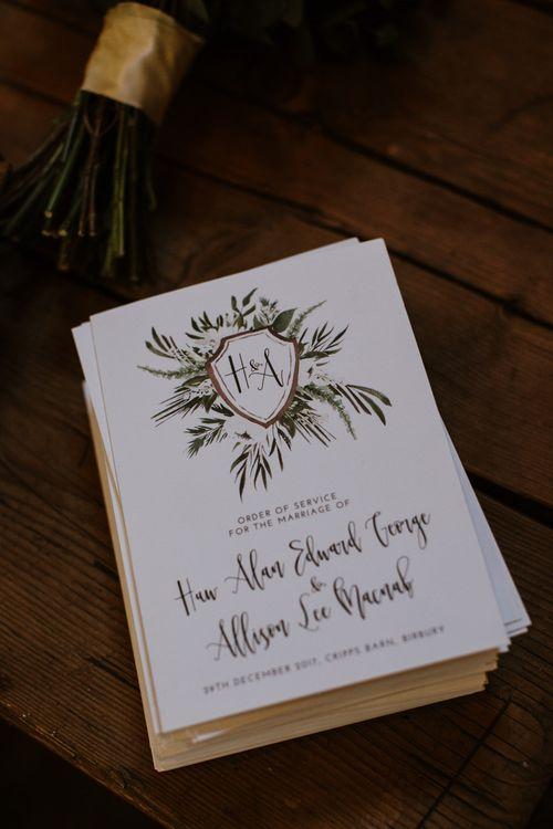 Wonderland Invites Wedding Stationery | Rustic Cripps Barn Winter Wedding | Alexandra Jane Photography