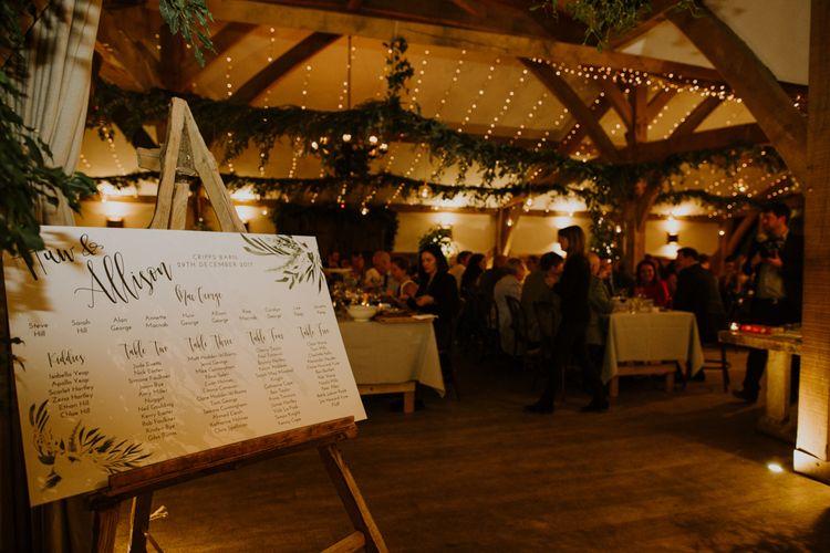 Wedding Reception Decor | Rustic Cripps Barn Winter Wedding | Alexandra Jane Photography