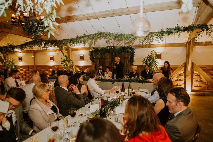 Wedding Reception | Rustic Cripps Barn Winter Wedding | Alexandra Jane Photography
