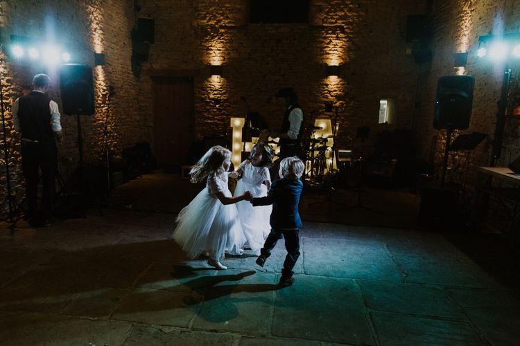 Page Boy & Flower Girls | Rustic Cripps Barn Winter Wedding | Alexandra Jane Photography
