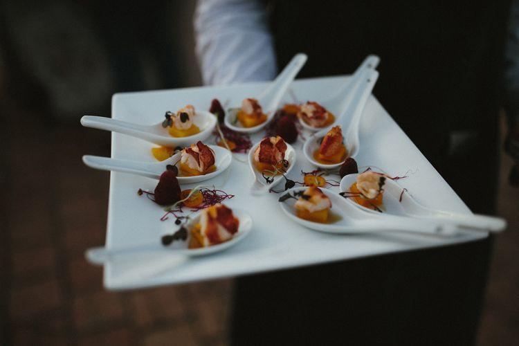 Canapés at Spanish wedding