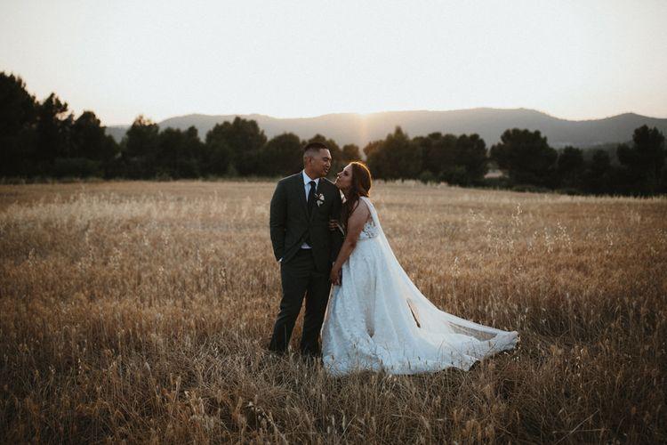 Jenny Yoo wedding dress for Spanish wedding