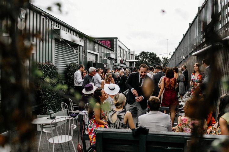 Outdoor drinks reception at New Craven Hall, Leeds