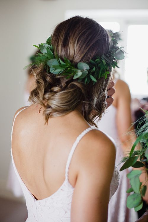 Foliage In Hair For Bridesmaids // Dewsall Court Wedding With Bride In Fishtail Gown 'Adele' By Augusta Jones With Images From Chris Barber Photography And Film From Blooming Lovely Films