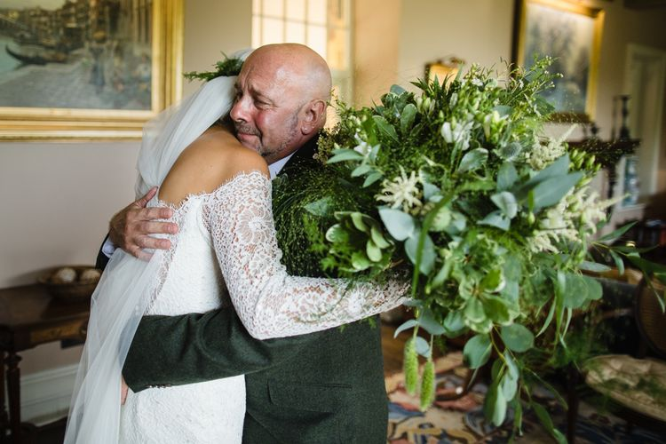 Foliage Wedding Bouquet // Dewsall Court Wedding With Bride In Fishtail Gown 'Adele' By Augusta Jones With Images From Chris Barber Photography And Film From Blooming Lovely Films