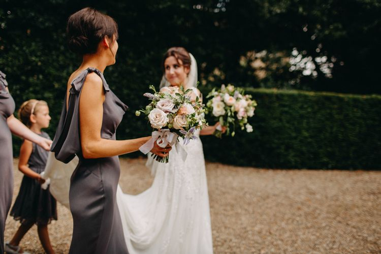 Flowers from Topiary Tree | Church Wedding Ceremony | Bride in Karen Willis Holmes | Groom in Custom Made Suit by Suit Supply | Summer Wedding at Family Home in Kent | Glass Marquee from Academy Marquees | Frances Sales Photography