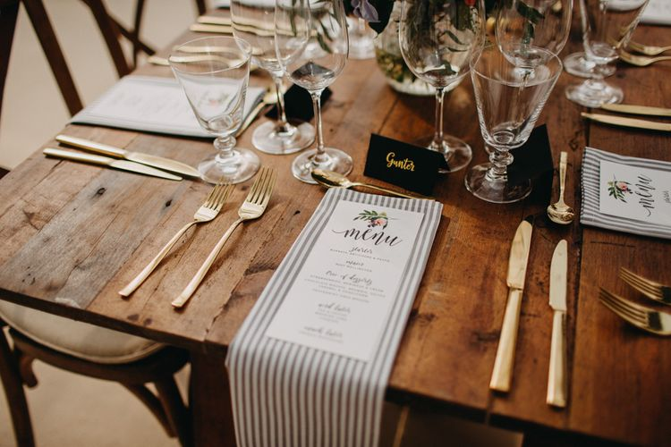 Soft gold Finishes | Hand Stitched Linen Napkins | Bride in Karen Willis Holmes | Groom in Custom Made Suit by Suit Supply | Summer Wedding at Family Home in Kent | Glass Marquee from Academy Marquees | Frances Sales Photography