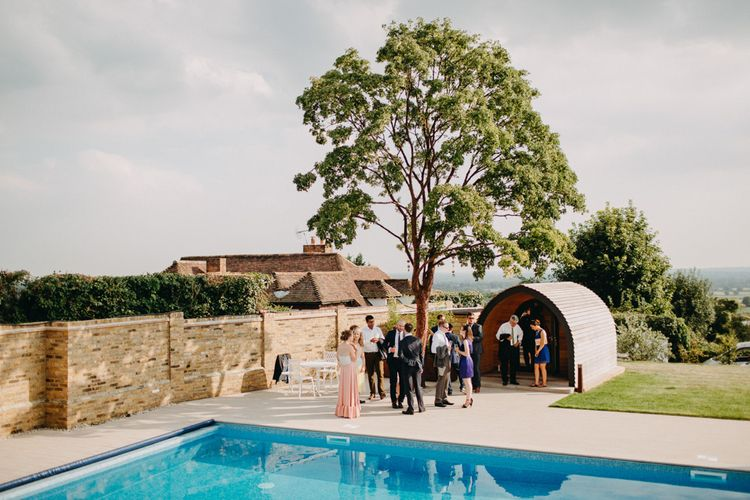 Venue | Bride in Karen Willis Holmes | Groom in Custom Made Suit by Suit Supply | Summer Wedding at Family Home in Kent | Glass Marquee from Academy Marquees | Frances Sales Photography