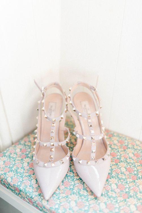 Valentino Rock Stud Bridal Shoes