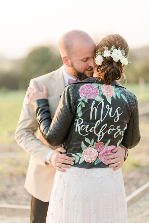 Personalised Leather Jacket Bridal Cover Up
