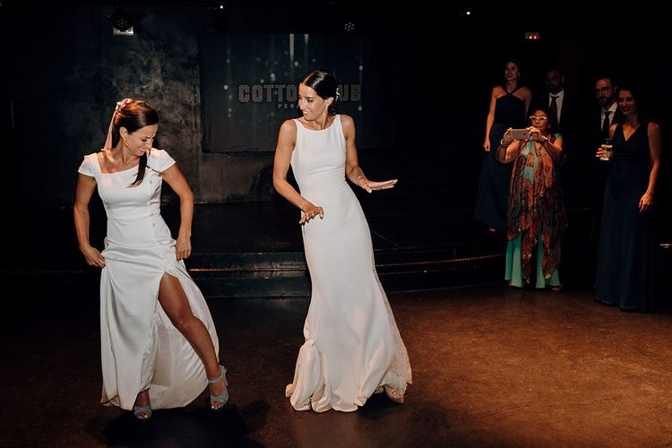 Brides during their first dance