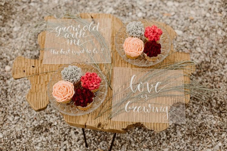 acrylic wedding signs for Beach Elopement