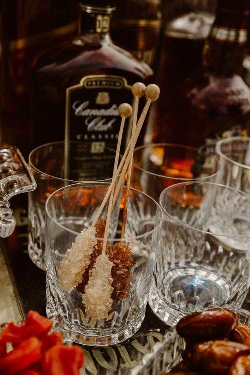 Whiskey bar for beach elopement