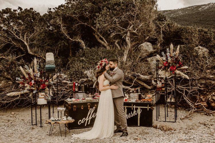 boho beach elopement wedding inspiration