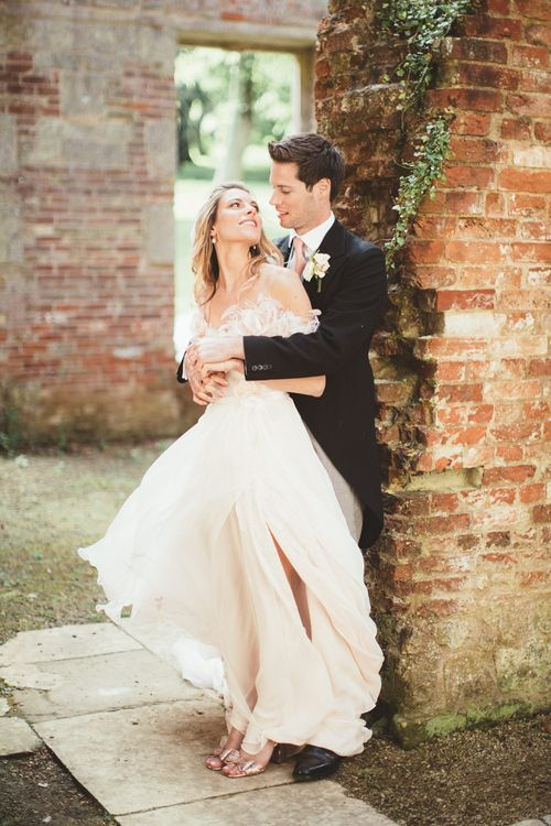 Bride in Bespoke Wilden London Wedding Dress   Groom in Morning Suit   Pastel Wedding at Appuldurcombe on the Isle of Wight   Maryanne Weddings Photography   Wight Weddings