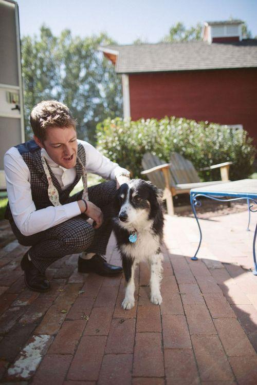 Groom with Pet Dog
