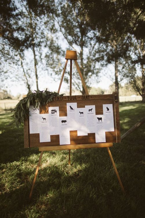Find Your Seat Wedding Table Plan