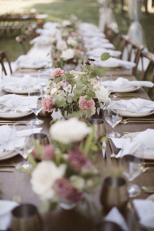 Wedding Reception Floral Centrepieces
