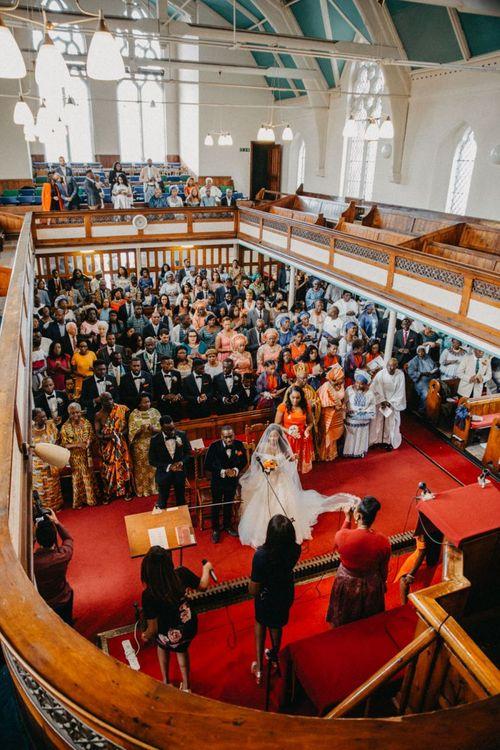 Church wedding ceremony for African wedding