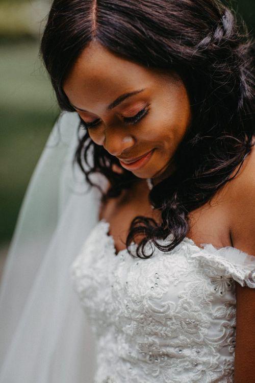 Beautiful black bride hair and makeup